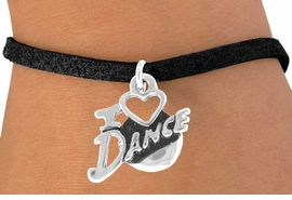"<bR> EXCLUSIVELY OURS!!<Br> AN ALLAN ROBIN DESIGN!!<BR> LEAD & NICKEL FREE!!<BR> W639SB - ""I LOVE DANCE""<Br> CHARM BRACELET FOR $3.25"