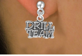 """<bR> EXCLUSIVELY OURS!!<Br> AN ALLAN ROBIN DESIGN!!<BR> LEAD & NICKEL FREE!!<BR> W714SE - """"DRILL TEAM"""" CHARM &<BR> CHARM EARRINGS FOR $3.25"""