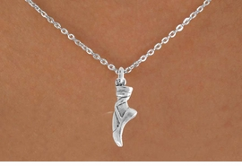 "<bR> EXCLUSIVELY OURS!!<Br> AN ALLAN ROBIN DESIGN!!<BR> LEAD & NICKEL FREE!!<BR> W745SN - ""BALLET SLIPPER"" <BR>CHARM NECKLACE FOR $4.05"