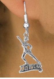 """<bR> EXCLUSIVELY OURS!!<Br> AN ALLAN ROBIN DESIGN!!<BR> LEAD & NICKEL FREE!!<BR> W834SE - """"DANCE"""" CHARM<Br> EARRINGS FOR $3.25"""
