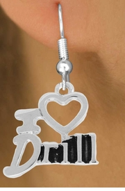 "<bR> EXCLUSIVELY OURS!!<BR> AN ALLAN ROBIN DESIGN!!<BR> LEAD & NICKEL FREE!!<BR> W844SE - ""I LOVE DRILL""<Br> CHARM EARRINGS FOR $3.25"