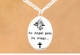 "<br>                        EXCLUSIVELY OURS!<br>                   AN ALLAN ROBIN DESIGN!<bR>W11868N - ""AN ANGEL GETS ITS WINGS...<Br>       ...BY HELPING OTHER PEOPLE FIND<BR>THEIRS."" DOUBLE-SIDED ANGEL & CROSS<BR>  OVAL NECKLACE©2007 AS LOW AS $3.35"