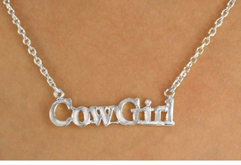 "<bR>                EXCLUSIVELY OURS!!!<Br>            AN ALLAN ROBIN DESIGN!<BR>W11968N - SILVER TONE ""COWGIRL""<Br>         NECKLACE FROM $2.81 TO $6.25<BR>                                ©2009"