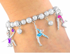 "<BR>             ""EXCLUSIVELY OURS""<bR>        AN ALLAN ROBIN DESIGN!!<BR>W3046B - GYMNASTICS STRETCH<BR>              CHARM BRACELET  <br>       AS LOW AS $5.06"