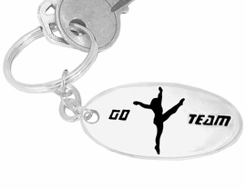 "<Br>                        EXCLUSIVELY OURS!!!<Br>                     AN ALLAN ROBIN DESIGN<bR>W9290KC - ""GO TEAM"" DRILL/ DANCE TEAM<br>   SILVER TONE KEY CHAIN FOR $2.50"