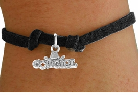 """<bR>               EXCLUSIVELY OURS!!<BR>            CHILDREN'S BRACELET<br>CLICK HERE TO SEE 750+ EXCITING<BR>   CHANGES THAT YOU CAN MAKE!<BR>              LEAD & NICKEL FREE!!<BR>   W529SCB - """"COWGIRL"""" MARQUEE<Br>       BRACELET FROM $4.50 TO $8.35"""