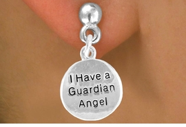 "<bR>                 EXCLUSIVELY OURS!!<BR>    CLICK HERE TO SEE 120+ EXCITING<BR>     CHANGES THAT YOU CAN MAKE!<BR>                LEAD & NICKEL FREE!!<BR>       W426SE - ""GUARDIAN ANGEL""<Br>CIRCLE & EARRINGS FROM $4.50 TO $8.35"