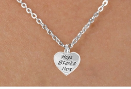 """<bR>                 EXCLUSIVELY OURS!!<BR>   CLICK HERE TO SEE 120+ EXCITING<BR>     CHANGES THAT YOU CAN MAKE!<BR>                LEAD & NICKEL FREE!!<BR>W443SN - """"HOPE STARTS HERE"""" HEART <br>       & NECKLACE FROM $4.50 TO $8.35"""
