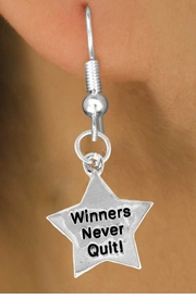 "<bR>              EXCLUSIVELY OURS!!<BR>CLICK HERE TO SEE 120+ EXCITING<BR>  CHANGES THAT YOU CAN MAKE!<BR>             LEAD & NICKEL FREE!!<BR>W450SE - ""WINNERS NEVER QUIT""<Br>STAR & EARRING FROM $4.50 TO $8.35"