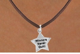 "<bR>                EXCLUSIVELY OURS!!<BR> CLICK HERE TO SEE 120+ EXCITING<BR>    CHANGES THAT YOU CAN MAKE!<BR>               LEAD & NICKEL FREE!!<BR> W450SN - ""WINNERS NEVER QUIT""<Br>STAR & NECKLACE AS LOW AS $4.50"