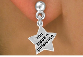 <bR>                EXCLUSIVELY OURS!!<BR> CLICK HERE TO SEE 120+ EXCITING<BR>    CHANGES THAT YOU CAN MAKE!<BR>               LEAD & NICKEL FREE!!<BR>W461SE - YOU MADE A DIFFERENCE<Br> STAR & EARRING FROM $4.50 TO $8.35