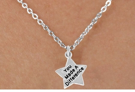 <bR>               EXCLUSIVELY OURS!!<BR> CLICK HERE TO SEE 120+ EXCITING<BR>    CHANGES THAT YOU CAN MAKE!<BR>               LEAD & NICKEL FREE!!<BR>W461SN - YOU MADE A DIFFERENCE<Br>STAR & NECKLACE AS LOW AS $4.50