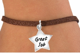 "<bR>              EXCLUSIVELY OURS!!<BR>CLICK HERE TO SEE 120+ EXCITING<BR>  CHANGES THAT YOU CAN MAKE!<BR>             LEAD & NICKEL FREE!!<BR>  W462SB - ""GREAT JOB"" STAR &<BR>       BRACELET AS LOW AS $4.50"