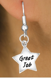"<bR>              EXCLUSIVELY OURS!!<BR>CLICK HERE TO SEE 120+ EXCITING<BR>  CHANGES THAT YOU CAN MAKE!<BR>              LEAD & NICKEL FREE!!<BR>  W462SE - ""GREAT JOB"" STAR &<Br>        EARRING FROM $4.50 TO $8.35"