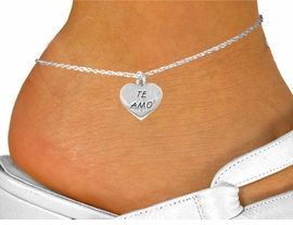 "<bR>               EXCLUSIVELY OURS!!<BR>CLICK HERE TO SEE 120+ EXCITING<BR>   CHANGES THAT YOU CAN MAKE!<BR>              LEAD & NICKEL FREE!!<BR>    W463SAK - ""TE AMO"" HEART &<br>          ANKLET AS LOW AS $2.85"