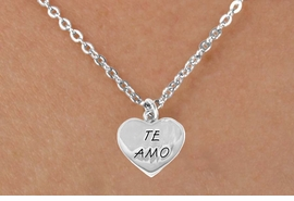 "<bR>                EXCLUSIVELY OURS!!<BR> CLICK HERE TO SEE 120+ EXCITING<BR>   CHANGES THAT YOU CAN MAKE!<BR>               LEAD & NICKEL FREE!!<BR>      W463SN - ""TE AMO"" HEART &<Br>        NECKLACE AS LOW AS $4.50"