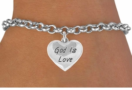 "<bR>               EXCLUSIVELY OURS!!<BR>CLICK HERE TO SEE 120+ EXCITING<BR>   CHANGES THAT YOU CAN MAKE!<BR>              LEAD & NICKEL FREE!!<BR> W464SB - ""GOD IS LOVE"" HEART<BR>& BRACELET FROM $4.50 TO $8.35"
