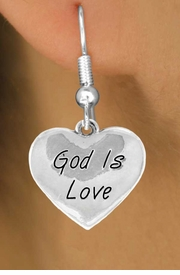 "<bR>               EXCLUSIVELY OURS!!<BR>CLICK HERE TO SEE 120+ EXCITING<BR>  CHANGES THAT YOU CAN MAKE!<BR>              LEAD & NICKEL FREE!!<BR>  W464SE - ""GOD IS LOVE"" HEART<Br>   & EARRING FROM $4.50 TO $8.35"