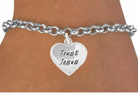 """<bR>               EXCLUSIVELY OURS!!<BR>CLICK HERE TO SEE 120+ EXCITING<BR>   CHANGES THAT YOU CAN MAKE!<BR>              LEAD & NICKEL FREE!!<BR> W466SB - """"TRUST JESUS"""" HEART<BR>& BRACELET FROM $4.50 TO $8.35"""