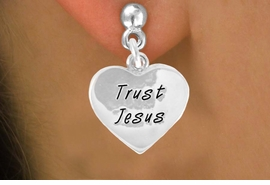 "<bR>               EXCLUSIVELY OURS!!<BR>CLICK HERE TO SEE 120+ EXCITING<BR>  CHANGES THAT YOU CAN MAKE!<BR>              LEAD & NICKEL FREE!!<BR>  W466SE - ""TRUST JESUS"" HEART<Br>  & EARRING FROM $4.50 TO $8.35"