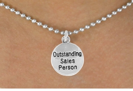 "<bR>               EXCLUSIVELY OURS!!<BR>CLICK HERE TO SEE 120+ EXCITING<BR>   CHANGES THAT YOU CAN MAKE!<BR>              LEAD & NICKEL FREE!!<BR> W482SN - ""OUTSTANDING SALES<Br>             PERSON"" & NECKLACE<br>                   AS LOW AS $4.50"