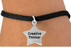 "<bR>               EXCLUSIVELY OURS!!<BR> CLICK HERE TO SEE 120+ EXCITING<BR>   CHANGES THAT YOU CAN MAKE!<BR>              LEAD & NICKEL FREE!!<BR>   W489SB - ""CREATIVE THINKER""<BR>STAR & BRACELET AS LOW AS $4.50"
