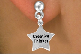 "<bR>              EXCLUSIVELY OURS!!<BR>CLICK HERE TO SEE 120+ EXCITING<BR>  CHANGES THAT YOU CAN MAKE!<BR>              LEAD & NICKEL FREE!!<BR>   W489SE - ""CREATIVE THINKER""<Br>STAR & EARRING FROM $4.50 TO $8.35"