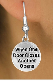 "<bR>                 EXCLUSIVELY OURS!!<BR>   CLICK HERE TO SEE 120+ EXCITING<BR>     CHANGES THAT YOU CAN MAKE!<BR>                 LEAD & NICKEL FREE!!<BR>W502SE - ""WHEN ONE DOOR OPENS""<Br>CIRCLE & EARRING FROM $4.50 TO $8.35<BR>                                  �2009"