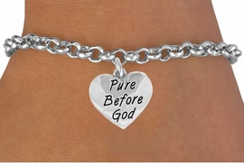 "<bR>               EXCLUSIVELY OURS!!<BR>CLICK HERE TO SEE 120+ EXCITING<BR>   CHANGES THAT YOU CAN MAKE!<BR>              LEAD & NICKEL FREE!!<BR> W503SB - ""PURE BEFORE GOD"" &<BR>   BRACELET FROM $4.50 TO $8.35"
