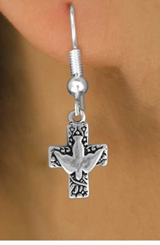 <bR>                EXCLUSIVELY OURS!!<BR> CLICK HERE TO SEE 120+ EXCITING<BR>    CHANGES THAT YOU CAN MAKE!<BR>               LEAD & NICKEL FREE!!<BR>W511SE - PEACE DOVE & CROSS ON<Br>     EARRINGS FROM $4.50 TO $8.35