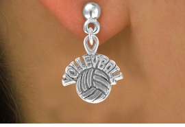 "<bR>               EXCLUSIVELY OURS!!<BR>CLICK HERE TO SEE 120+ EXCITING<BR>   CHANGES THAT YOU CAN MAKE!<BR>              LEAD & NICKEL FREE!!<BR>   W525SE - ""VOLLEYBALL"" AND BALL & <Br>        EARRINGS FROM $4.50 TO $8.35"
