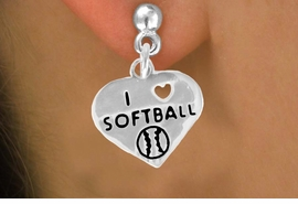 "<bR>              EXCLUSIVELY OURS!!<BR>CLICK HERE TO SEE 120+ EXCITING<BR>   CHANGES THAT YOU CAN MAKE!<BR>              LEAD & NICKEL FREE!!<BR>   W524SE - ""I LOVE SOFTBALL"" &<Br>        EARRINGS FROM $4.50 TO $8.35"