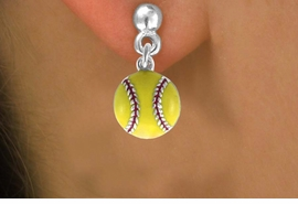 <bR>               EXCLUSIVELY OURS!!<BR>CLICK HERE TO SEE 120+ EXCITING<BR>   CHANGES THAT YOU CAN MAKE!<BR>              LEAD & NICKEL FREE!!<BR>    W527SE - YELLOW SOFTBALL &<Br>        EARRINGS FROM $4.50 TO $8.35