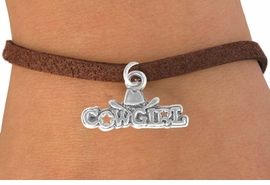 "<bR>               EXCLUSIVELY OURS!!<BR>CLICK HERE TO SEE 120+ EXCITING<BR>   CHANGES THAT YOU CAN MAKE!<BR>              LEAD & NICKEL FREE!!<BR>  W529SB - ""COWGIRL"" MARQUEE<Br>      & BRACELET AS LOW AS $4.50"