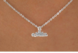 """<bR>               EXCLUSIVELY OURS!!<BR>CLICK HERE TO SEE 120+ EXCITING<BR>   CHANGES THAT YOU CAN MAKE!<BR>              LEAD & NICKEL FREE!!<BR> W529SN - """"COWGIRL"""" MARQUEE <BR>     & NECKLACE AS LOW AS $4.50"""