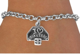 "<bR>               EXCLUSIVELY OURS!!<BR>CLICK HERE TO SEE 120+ EXCITING<BR>    CHANGES THAT YOU CAN MAKE!<BR>               LEAD & NICKEL FREE!!<BR>    W531SB - ""I LOVE BASKETBALL""<BR>BRACELET AS LOW AS $4.50 �2012"