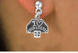 "<bR>             EXCLUSIVELY OURS!!<BR>CLICK HERE TO SEE 120+ EXCITING<BR> CHANGES THAT YOU CAN MAKE!<BR>             LEAD & NICKEL FREE!!<BR> W531SE - ""I LOVE BASKETBALL"" &<Br>        EARRING  FROM $4.50 TO $8.35"