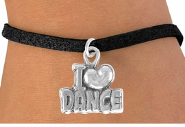 "<bR>               EXCLUSIVELY OURS!!<BR>CLICK HERE TO SEE 120+ EXCITING<BR>   CHANGES THAT YOU CAN MAKE!<BR>              LEAD & NICKEL FREE!!<BR>      W533SB - ""I LOVE DANCE"" &<Br>       BRACELET AS LOW AS $4.50"