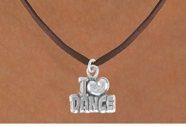 "<bR>               EXCLUSIVELY OURS!!<BR>CLICK HERE TO SEE 120+ EXCITING<BR>   CHANGES THAT YOU CAN MAKE!<BR>              LEAD & NICKEL FREE!!<BR>      W533SN - ""I LOVE DANCE"" &<BR>       NECKLACE AS LOW AS $4.50"
