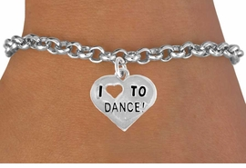 "<bR>               EXCLUSIVELY OURS!!<BR>CLICK HERE TO SEE 120+ EXCITING<BR>   CHANGES THAT YOU CAN MAKE!<BR>              LEAD & NICKEL FREE!!<BR>   W534SB - ""I LOVE TO DANCE"" &<Br>       BRACELET AS LOW AS $4.50"