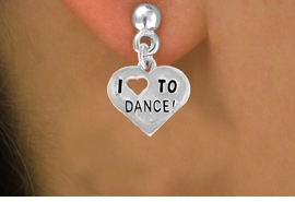 "<bR>              EXCLUSIVELY OURS!!<BR>CLICK HERE TO SEE 120+ EXCITING<BR>   CHANGES THAT YOU CAN MAKE!<BR>              LEAD & NICKEL FREE!!<BR>   W534SE - ""I LOVE TO DANCE"" &<Br>        EARRINGS FROM $4.50 TO $8.35"