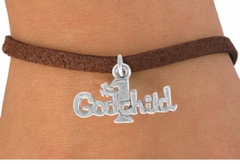 "<bR>               EXCLUSIVELY OURS!!<BR>CLICK HERE TO SEE 120+ EXCITING<BR>   CHANGES THAT YOU CAN MAKE!<BR>              LEAD & NICKEL FREE!!<BR>      W541SB - ""#1 GODCHILD"" &<Br>       BRACELET AS LOW AS $4.50"