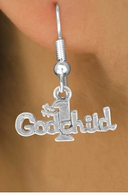 "<bR>               EXCLUSIVELY OURS!!<BR>CLICK HERE TO SEE 120+ EXCITING<BR>   CHANGES THAT YOU CAN MAKE!<BR>              LEAD & NICKEL FREE!!<BR>       W541SE - ""#1 GODCHILD"" &<Br>       EARRINGS FROM $4.50 TO $8.35"