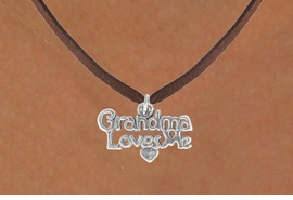 "<bR>               EXCLUSIVELY OURS!!<BR>CLICK HERE TO SEE 120+ EXCITING<BR>   CHANGES THAT YOU CAN MAKE!<BR>              LEAD & NICKEL FREE!!<BR> W543SN - ""GRANDMA LOVES ME""<BR>       NECKLACE AS LOW AS $4.50"