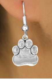 <bR>               EXCLUSIVELY OURS!!<BR>CLICK HERE TO SEE 120+ EXCITING<BR>   CHANGES THAT YOU CAN MAKE!<BR>              LEAD & NICKEL FREE!!<BR>        W557SE - SILVER TONE PAW<Br>    ON EARRINGS FROM $4.50 TO $8.35