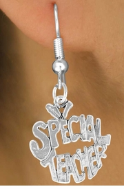 "<bR>               EXCLUSIVELY OURS!!<BR>CLICK HERE TO SEE 120+ EXCITING<BR>   CHANGES THAT YOU CAN MAKE!<BR>              LEAD & NICKEL FREE!!<BR>     W562SE - ""SPECIAL TEACHER""<Br>    ON EARRINGS FROM $4.50 TO $8.35"