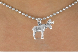 <bR>               EXCLUSIVELY OURS!!<BR>CLICK HERE TO SEE 120+ EXCITING<BR>   CHANGES THAT YOU CAN MAKE!<BR>              LEAD & NICKEL FREE!!<BR>    W565SN - MOOSE & NECKLACE<BR>                    AS LOW AS $4.50