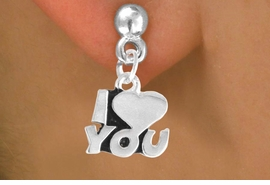 "<bR>             EXCLUSIVELY OURS!!<BR>CLICK HERE TO SEE 125+ EXCITING<BR>  CHANGES THAT YOU CAN MAKE!<BR>            LEAD & NICKEL FREE!!<BR>       W380SE - ""I LOVE YOU"" &<Br>       EARRING FROM $4.50 TO $8.35"
