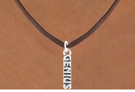 "<bR>              EXCLUSIVELY OURS!!<BR>CLICK HERE TO SEE 125+ EXCITING<BR>   CHANGES THAT YOU CAN MAKE!<BR>             LEAD & NICKEL FREE!!<BR> W384SN - ""GENIUS"" & NECKLACE<Br>                   AS LOW AS $3.65"