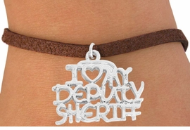 <bR>                EXCLUSIVELY OURS!!<BR>  CLICK HERE TO SEE 500+ EXCITING<BR>    CHANGES THAT YOU CAN MAKE!<BR>                 LEAD & NICKEL FREE!!<BR>W796SB - I LOVE MY DEPUTY SHERIFF<BR>    & BRACELET FROM $4.50 TO $8.35